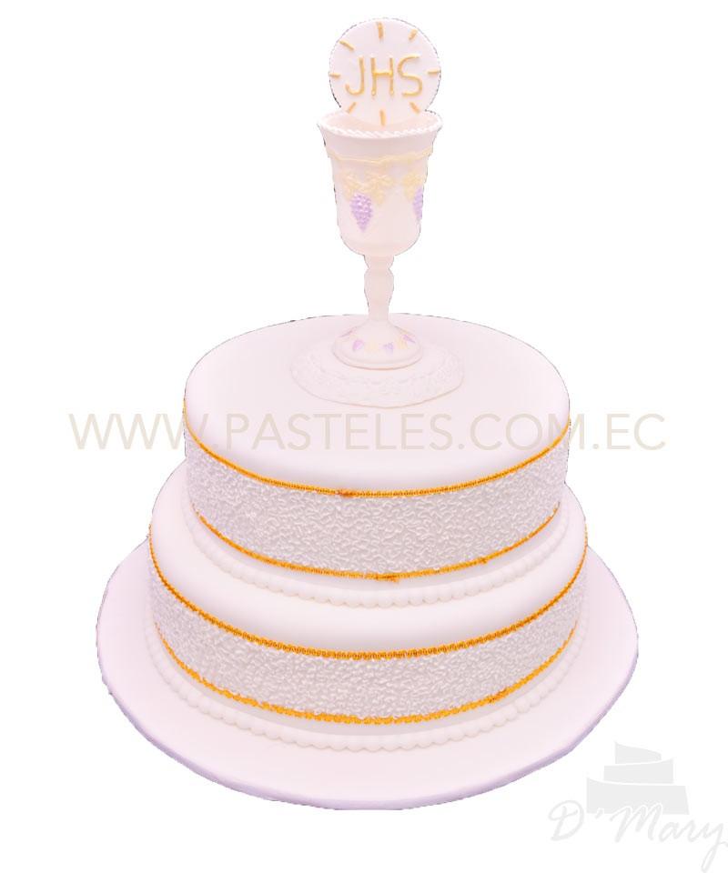 Personalizado De Primera Comunión O Bautizo Cake Topper con cruz y cálices