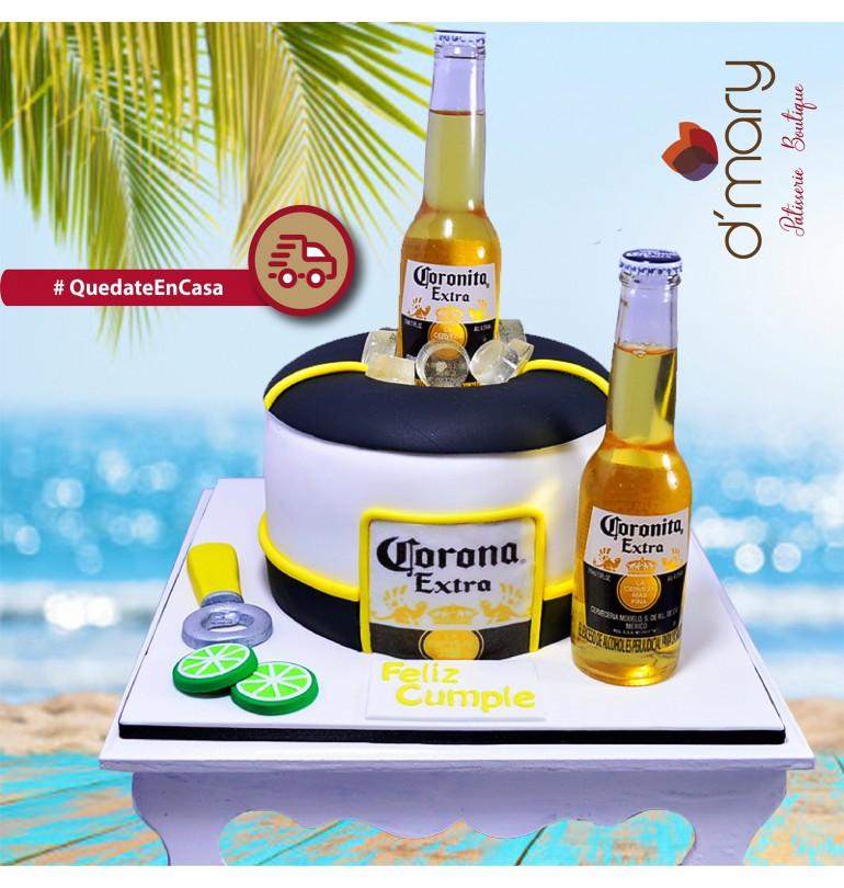 Pastel Fondant Cerveza Corona